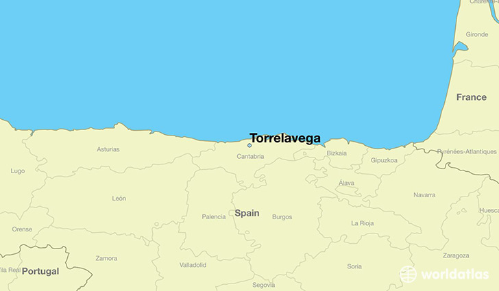 map showing the location of Torrelavega