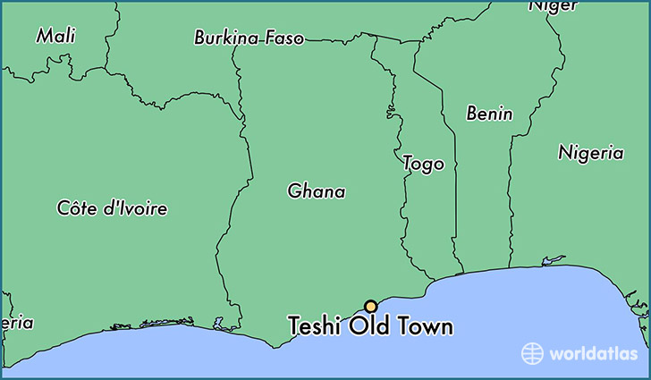 map showing the location of Teshi Old Town