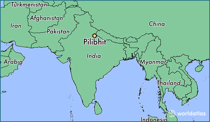 map showing the location of Pilibhit