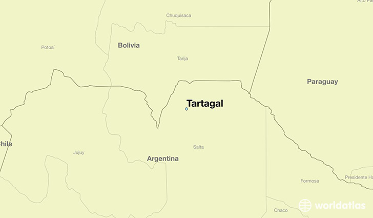map showing the location of Tartagal
