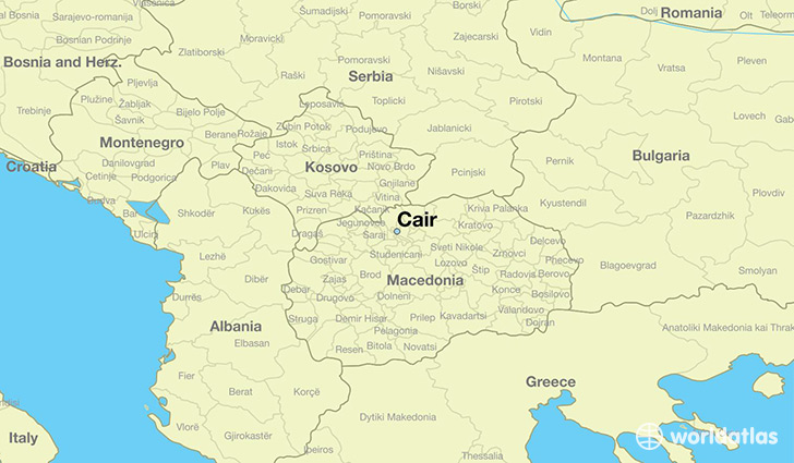 map showing the location of Cair
