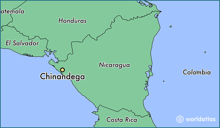 map showing the location of Chinandega