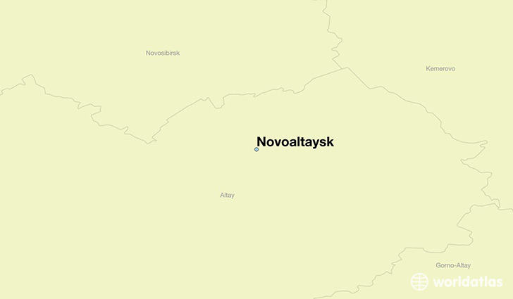 map showing the location of Novoaltaysk