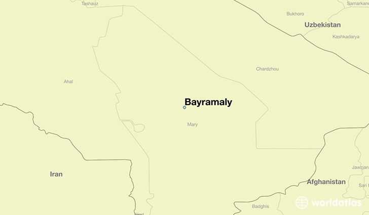 map showing the location of Bayramaly