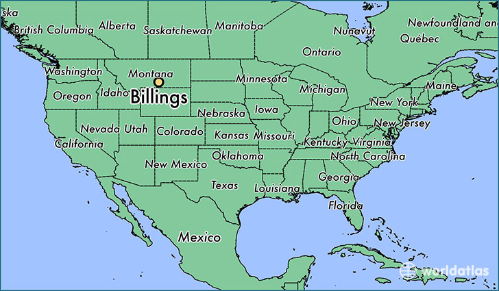 Where is Billings MT Billings Montana Map WorldAtlascom