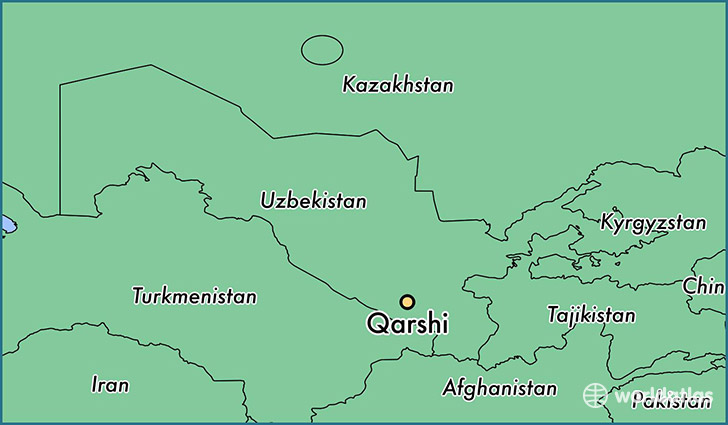 map showing the location of Qarshi