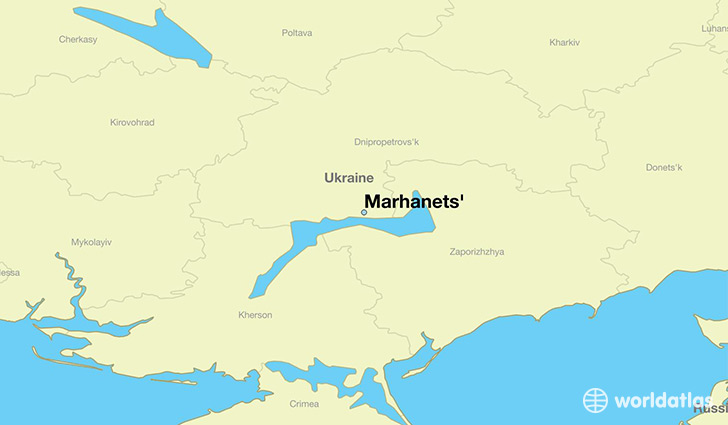 Where Is Marhanets Ukraine Marhanets Dnipropetrovsk Map