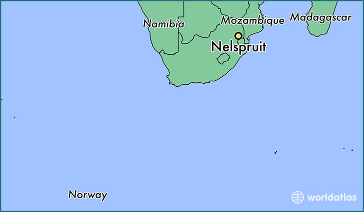 map showing the location of Nelspruit