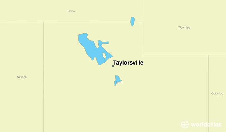 map showing the location of Taylorsville