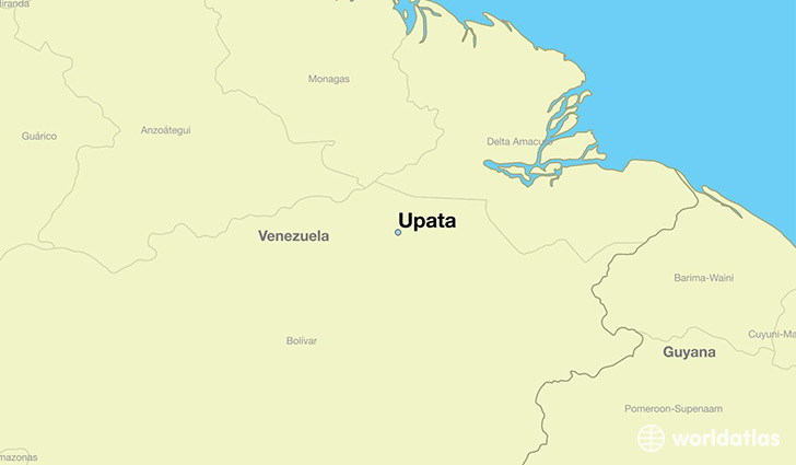 map showing the location of Upata
