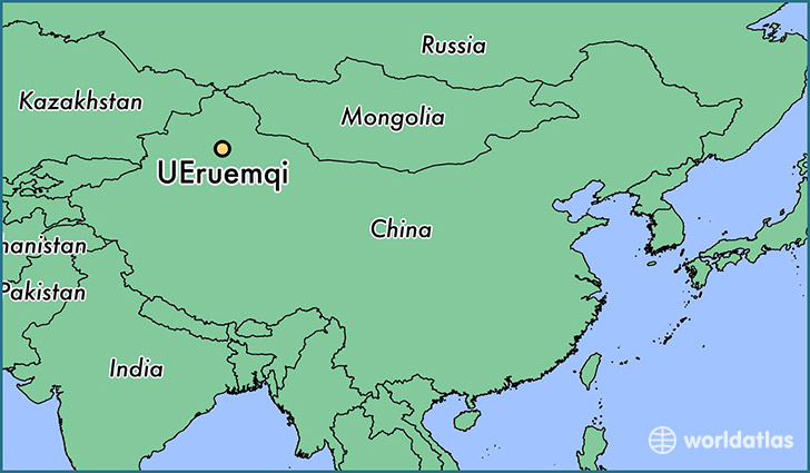 map showing the location of UEruemqi
