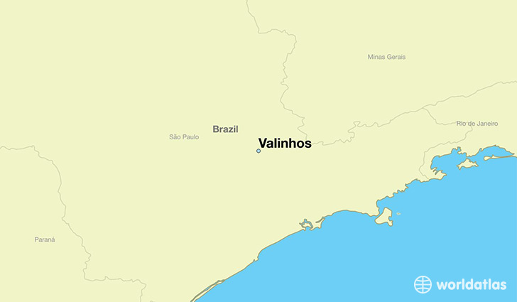 map showing the location of Valinhos
