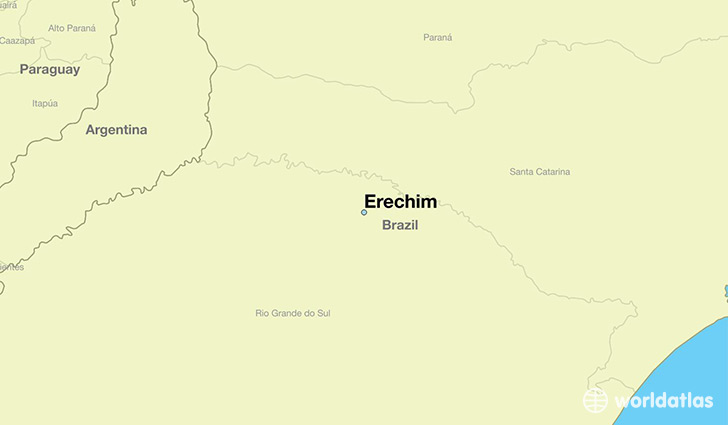 map showing the location of Erechim