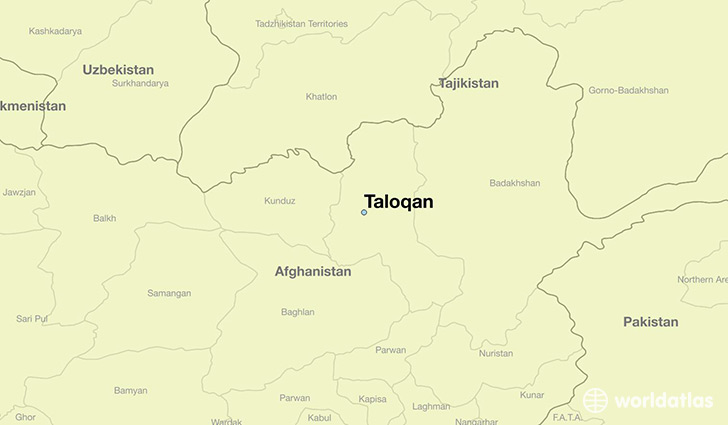 map showing the location of Taloqan