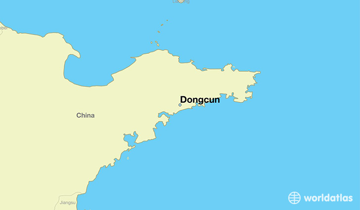 map showing the location of Dongcun