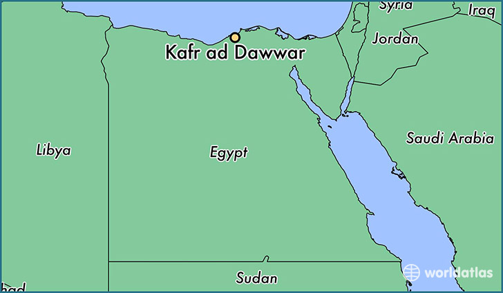 map showing the location of Kafr ad Dawwar