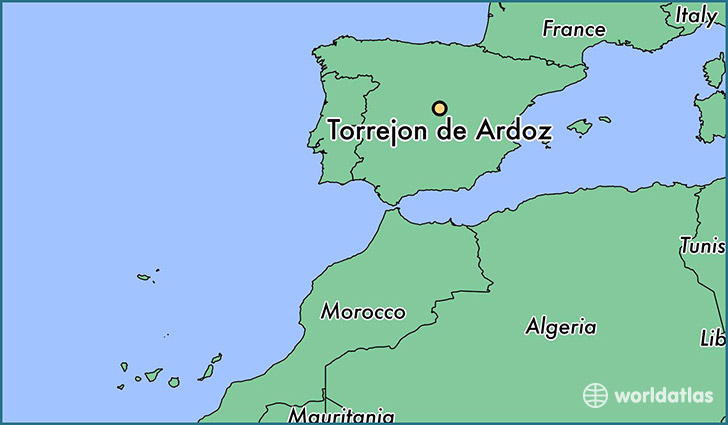 map showing the location of Torrejon de Ardoz
