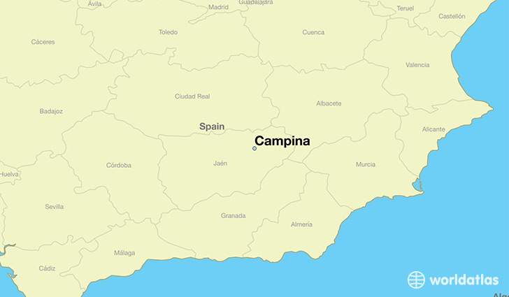 map showing the location of Campina