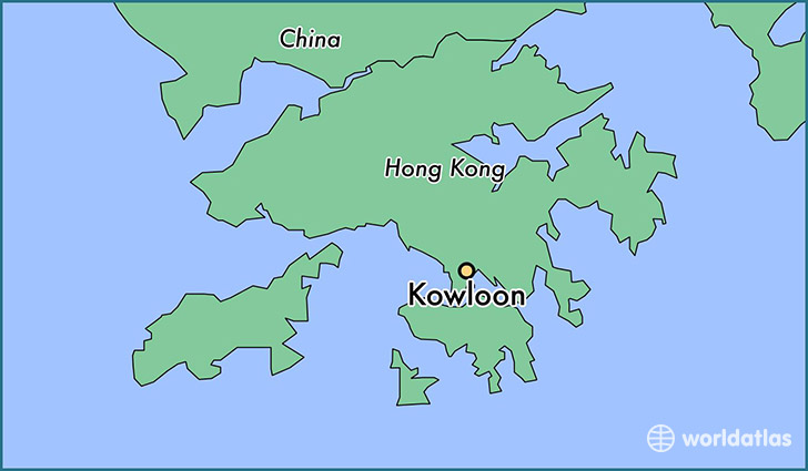 map showing the location of Kowloon