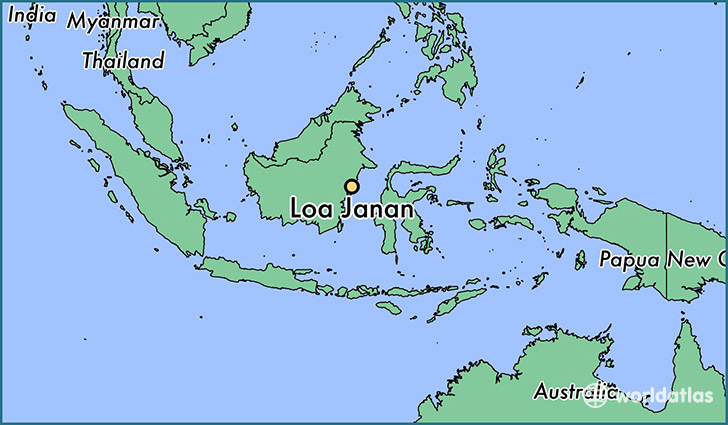 map showing the location of Loa Janan