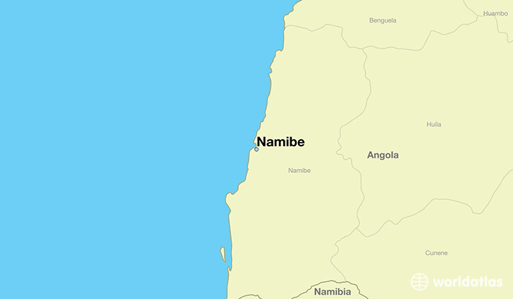 map showing the location of Namibe