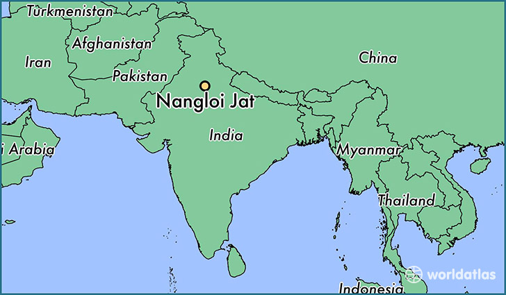 map showing the location of Nangloi Jat