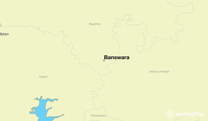 map showing the location of Banswara