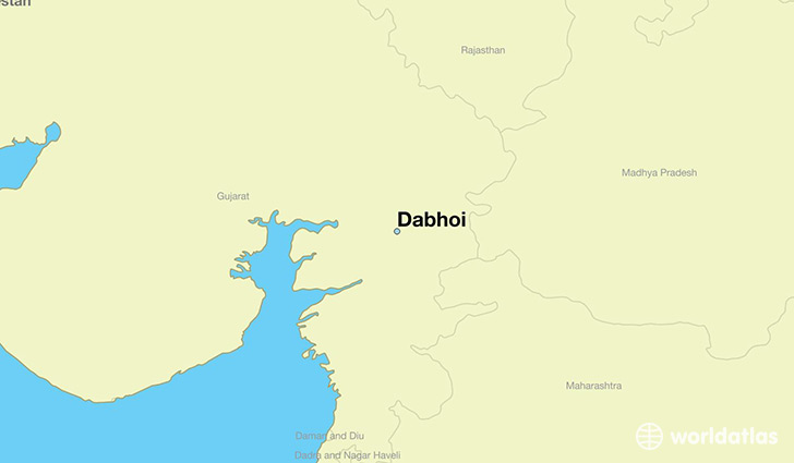 map showing the location of Dabhoi