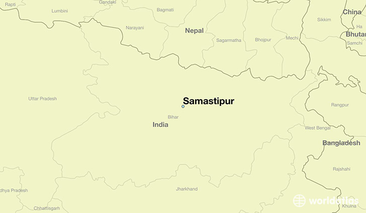 map showing the location of Samastipur