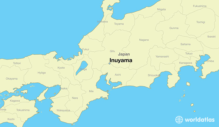 map showing the location of Inuyama