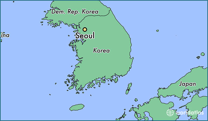 Where is seoul south korea seoul seoul map worldatlas map showing the location of seoul gumiabroncs Image collections