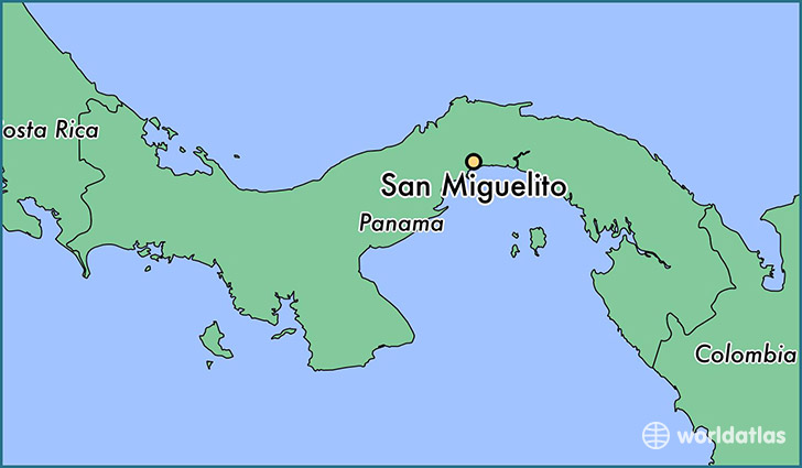 map showing the location of San Miguelito
