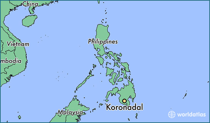 map showing the location of Koronadal