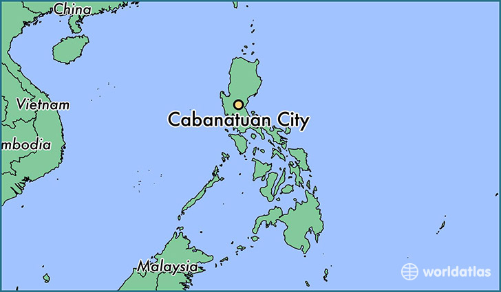 map showing the location of Cabanatuan City