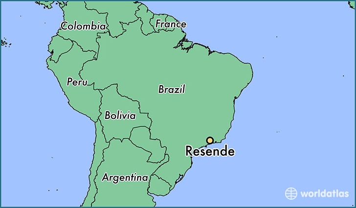 map showing the location of Resende