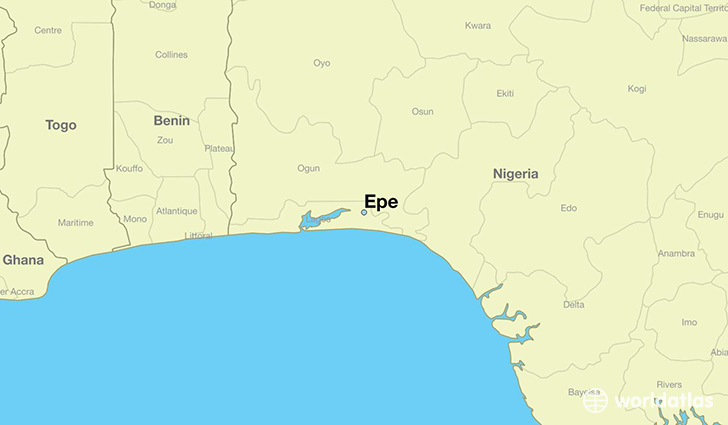 map showing the location of Epe