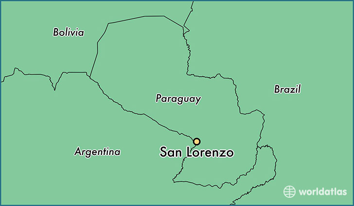 map showing the location of San Lorenzo