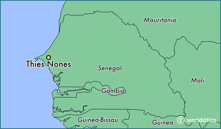 map showing the location of Thies Nones