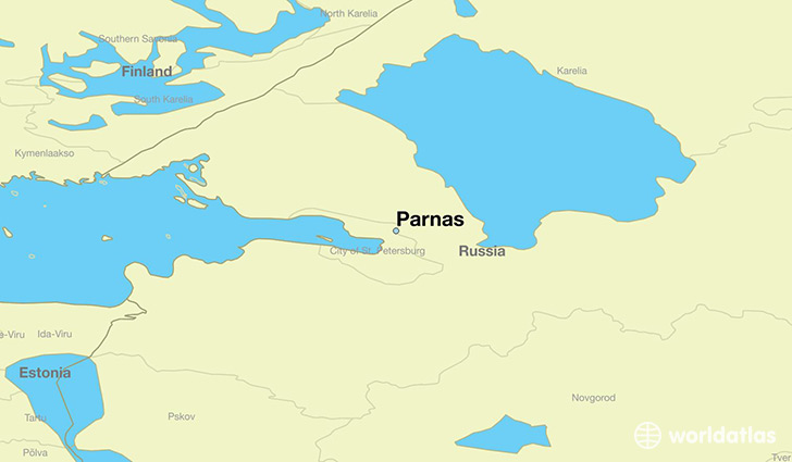 map showing the location of Parnas