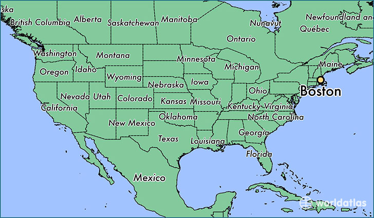Massachusetts On Map Montana Map Where Is Boston Massachusetts - Montana on us map