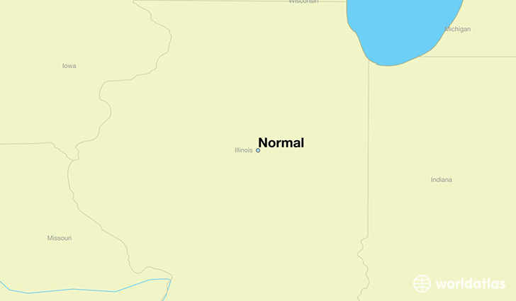 map showing the location of Normal