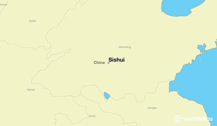 map showing the location of Sishui