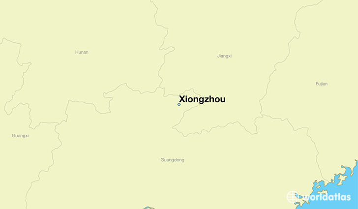 map showing the location of Xiongzhou