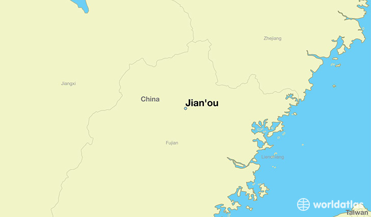 map showing the location of Jian'ou