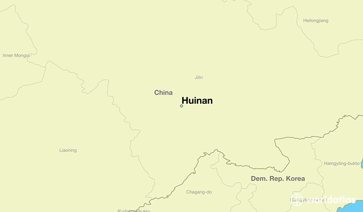 map showing the location of Huinan