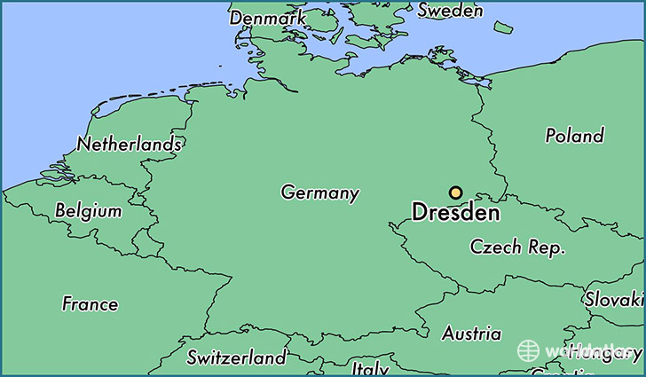 Where Is Dresden Germany Dresden Saxony Map Worldatlas Com
