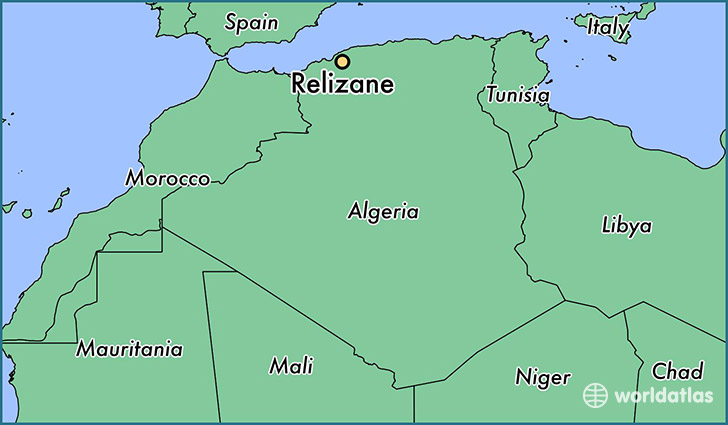 map showing the location of Relizane