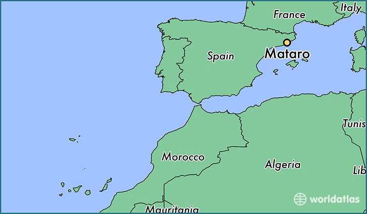 map showing the location of Mataro