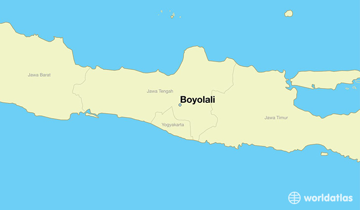 map showing the location of Boyolali