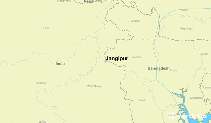 map showing the location of Jangipur
